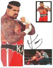 Kama the Ultimate Fighter signed 8x10 w/COA  WWF