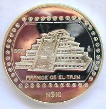 Mexico 1993 Piramide De Le Tajin 10 Pesos 5oz Silver Coin,Proof