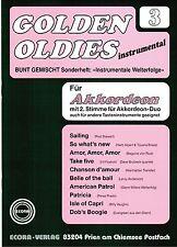 Akkordeon Noten : Golden Oldies 3  mittelschwer mit 2. Stimme (ad. lib.) ECORA