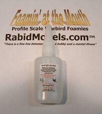 CLEAR RUBBER TOUGHENED CA SUPER GLUE - 2 oz bottle *MEDIUM* Cyanoacrylate