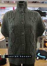 Lauren Hansen Womens Cable Knit Sweater-GRAY-Large-NWT
