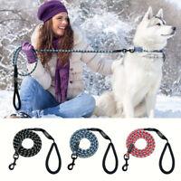 6ft Nylon Reflective Dog Leash Long Mountain Climbing Rope Dog Training Leash