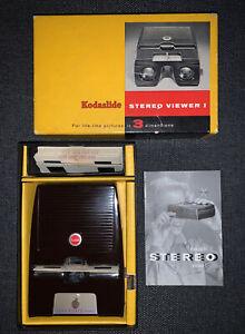 Kodak Kodaslide I Vintage Stereo 3D Viewer TESTED Original Box + Manual + Slides