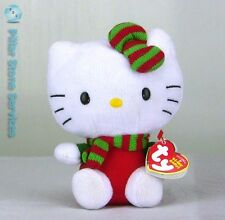 Ty Hello Kitty Beanie Baby Limited Edition Christmas Sanrio Plush red/green