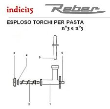 indici15 Serie 12 Piastre Trafile per Torchio n°3 e n°5  Ricambi  Reber