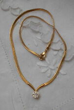 Necklace Cubic Zirconia White Gold Vintage & Antique Jewellery