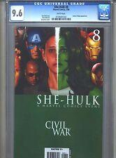 She-Hulk #8 CGC 9.6 (2006) Civil War