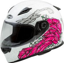 GMAX FF-49 YARROW Full-Face Street Motorcycle Helmet (White/Pink) Choose Size