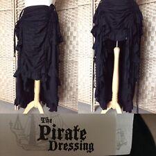 "PIRATE DRESSING Black MAXI RUFFLE Skirt L40"" Sz S 8 10 STEAMPUNK Goth CORSET B3"