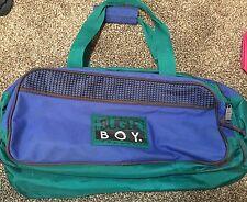 Bugle Boy Vintage Duffle Gym Bag Blue Green VTG Tote Old HTF Grunge 90's