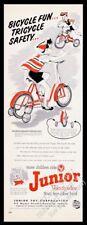 1953 AMF Junior Roadmaster sidewalk bike trike tricycle art vintage print ad