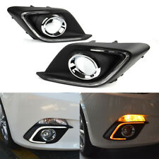 Car LED DRL Daytime Running Light Fog Driving Lamp for Mazda 3 Axela 2014-2016