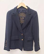 Carolina Herrera Ladies Size 8 Navy Blue Cotton Blazer