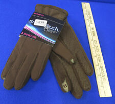Isotoner Smart Touch Brown Gloves Phone Screens Pointer Thumb Grip Palms M/L