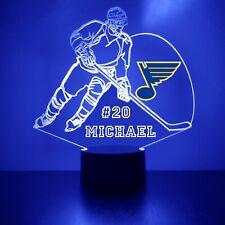 St. Louis Blues Light,Personalized FREE, NHL Hockey LED Sports Fan Lamp w/remote