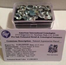 Certified $2,580 Natural Loose Aquamarine Gemstone Parcel