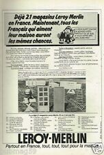 Publicité advertising 1978 Magasin Bricolage Leroy Merlin