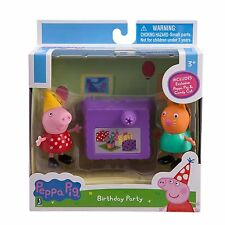 NEW Peppa PIG Peppa's Birthday Party Play Set With CANDY Cat NIB