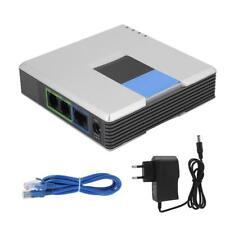 Gateway VoIP Telefono Internet Adattatore 2Porte Cavo SIP RJ45 Per Linksys PAP2T