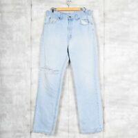 Levi's Orange Tab Light Wash Blue Vintage Jeans Size 36 x 34 Distressed Canada