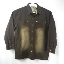 Raider Jeans Mens Denim Jacket Western Size Large Buttons Rivets Infamous Brand