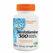 Doctor's Best Benfotiamine 300 MG Vegetarian Capsules 60 Count
