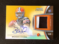 2012 Bowman Sterling Brandon Weeden Card #BSAR-BW Mint AUTO PATCH Rookie 22/66