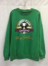 Vintage Grey Cup Saskatchewan 1995 Crewneck Sweater Green