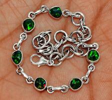 Faceted Chalama Black Opal Rough 925 Sterling Silver Bracelet SB16652