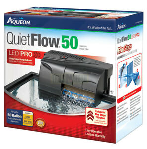 Aqueon QuietFlow 50 Aquarium Filter - 5-stage Filtration for Up to 50 Gallons