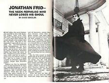 Dark Shadows 1969 Jonathan Frid Tv Vampire Barnabas Collins Pictorial A. Moltke
