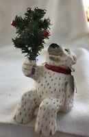 DAVID FRYKMAN POLAR BEAR SHELF SITTER CHRISTMAS FIGURINE
