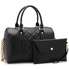New  Womens Handbags Faux Leather Satchel Tote Bag Shoulder Bag Medium Day Purse