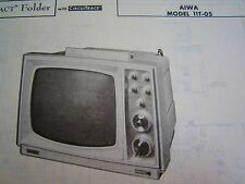 AIWA 11T05 TELEVISION TV PHOTOFACT