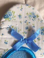 Unbranded Floral blue satin trim slippers UK6.5/40
