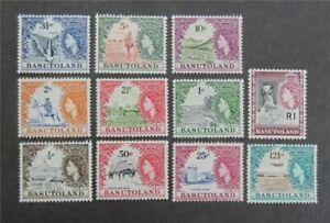 nystamps British Basutoland Stamp # 72-82 Mint OG H/NH $110   U18y1674