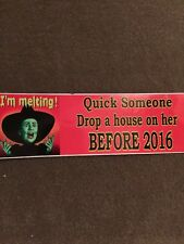 HILLARY Quick drop a house on her before 2016? ANTI HILLARY   Sticker