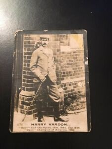 1901 Harry Vardon Ogden Cigarette Card #476 Guinea Gold Golf Cards