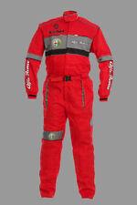 Mans Alfa Romeo Mechanics Overall,Workwear Racing Suit Protective Sport Apparel,