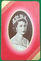 Playing Cards 1 Single Swap Card Old Vintage QUEEN ELIZABETH II Royal Royalty 4
