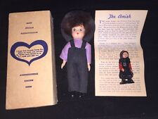 Doll Amish Boy Lancaster Collectible in Box + Solid Plastic Woman Lot Dollhouse