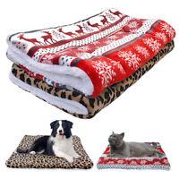 Soft Pet Dog Bed Mat Winter Warm Fleece Cushion Mattress Blanket for Pet Puppy