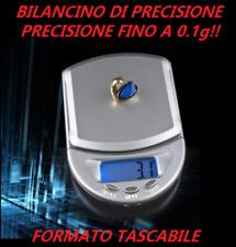 BILANCIA BILANCINO di precisione 0.1g fino a 500g tascabile piccola batterie