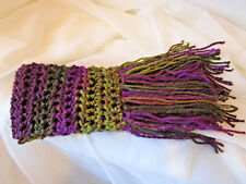 Crochet Scarf ~ Charisma Yarn ~ Color is Eggplant