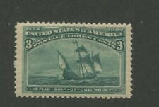 1893 United States Postage Stamp #232 Mint Never Hinged Disturbed Original Gum