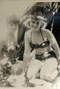 1960s Bikini Russian Beautiful Women Swimwear Posing Tourists Vintage Photo