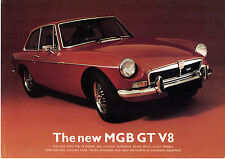 MG MGB GT V8 1973 UK Market Launch Leaflet Sales Brochure