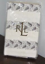 NEW SET of Ralph Lauren WINTER Cottage LEAF Black White STANDARD Pillowcases