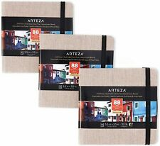 "Arteza Watercolor Book, Gray Hardcover, 5.5"" x 5.5"", 88 Pages -  Pack of 3"