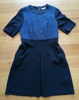 "Marella Women's 3/4 sleeve Black Blue ""Quilted"" Texture Dress Size 16UK, 14USA"